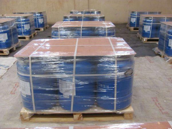 50 kgs. HDPE drums - Palletized